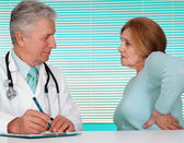 Fine doctor and his patient — Stock Photo