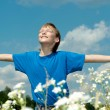 Fine boy enjoys  freedom - Stockfoto