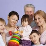 Beautiful Caucasian large family — Stock Photo #12842321