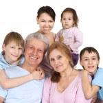Beautiful good Caucasian large family — Stock Photo #12842472