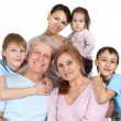 Royalty-Free Stock Photo: Happy Caucasian family of six