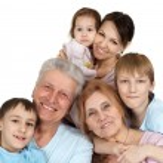 Happy Caucasian family of six — Stock Photo #12842478