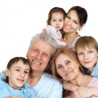 Happy Caucasian family of six — Stock Photo #12842479