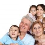 Happy Caucasian family of six — Stock Photo #12842480