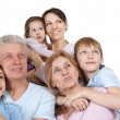 Happy Caucasian family of six — Stock Photo #12842484