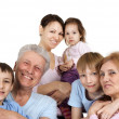 Happy Caucasian family of six — Stock Photo #12842493
