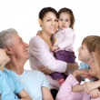 Happy Caucasian family of six — Stock Photo #12842499