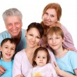 Happy Caucasian family of six — Stock Photo #12842505