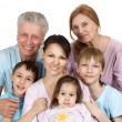 Happy Caucasian family of six — Stock Photo #12842507