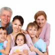 Happy Caucasian family of six — Stock Photo #12842514