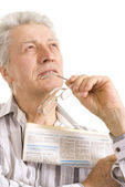 Great eldery senior — Stock Photo