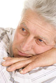 Thinking old male — Stock Photo