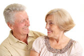 Magnificent elderly couple — Stock Photo
