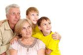 Dedesi çok güzel onların torunları ile — Stok fotoğraf