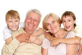 Grandparents with their cool grandchildren — Stock Photo