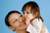 娘の幸せな白人女性 — ストック写真