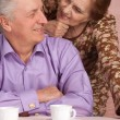 Nice older woman and her husband — Stock Photo #12887764