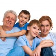 Stock Photo: Happy family had good time