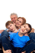 Pleasant family had a good time — Stock Photo