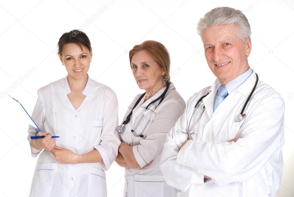 Doctors in a white coats with a stethoscope  Stock Photo #12887958