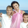 Mother with her sons — Stock Photo #29178347