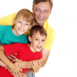 Beauteous family in bright T-shirts — Stock Photo #29178383