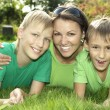 Mother with two sons — Stock Photo #29178455