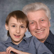 Boy and his happy grandfather — Stock Photo #29178527