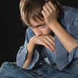 Sorrowful little boy — Stock Photo