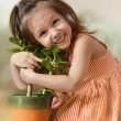 Little cheerful girl — Stock Photo