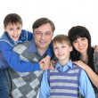 Portrait of the European family of four — Stock Photo