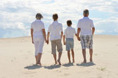 Brothers with their grandparents — Stock Photo