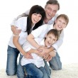 Family of four people — Stockfoto