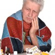 Elderly caucasimtreated by medicines — Stock Photo #29183463