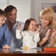 Family with cheerful children — Stock Photo #29183713