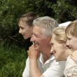 Stock Photo: Attractive family went to river