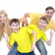 Portrait of cheerful family — Stockfoto