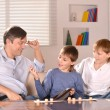 Father with his sons — Stock Photo