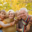 Friendly family walking — Stock Photo