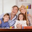 Family with cheerful children — Stock Photo #29184971