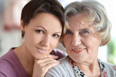 Older woman and a young woman — Stock Photo