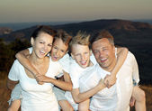 Family of four people — Foto de Stock