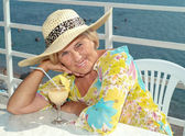 Happy mature woman relaxing — Stock Photo