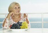 Anciana feliz — Foto de Stock