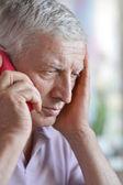 Elderly man call — Stock Photo