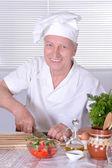Chef anciano — Foto de Stock