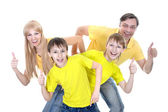 Portrait of cheerful family — Stock Photo
