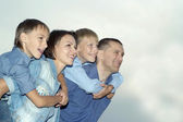 Happy family posing — Stock Photo