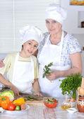 Grandma with her grandson — Stock Photo