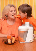 Woman and grandson — Stock Photo